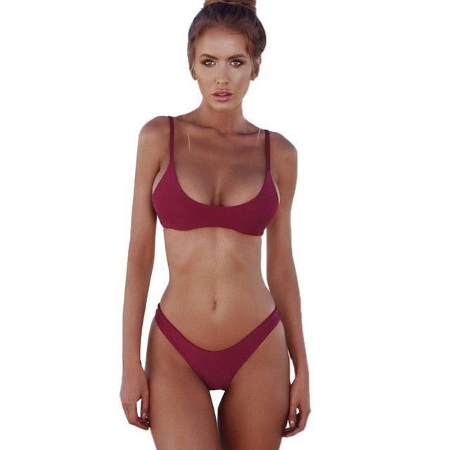 Beautiful Low Waist Brazillian Bikini Set