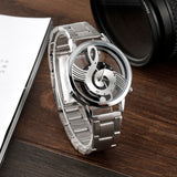 Treble Clef Stainless Steel Wristwatch