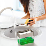 Soap Dispenser Pump with Sponge Caddy