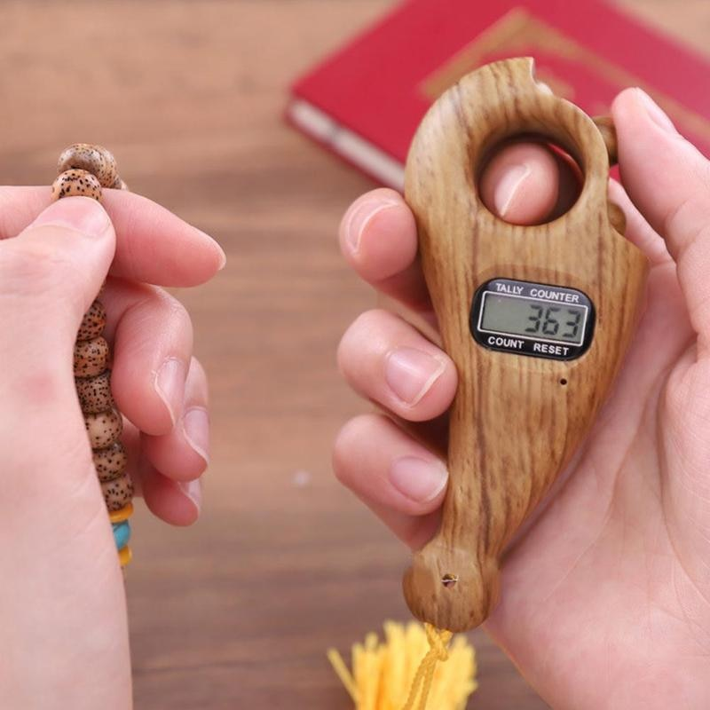 Rotating Prayer Beads With Digital Counter Tasbeeh