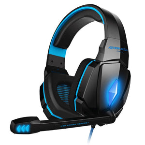 Gaming Stereo Headphones Deep Bass with Mic and LED Light