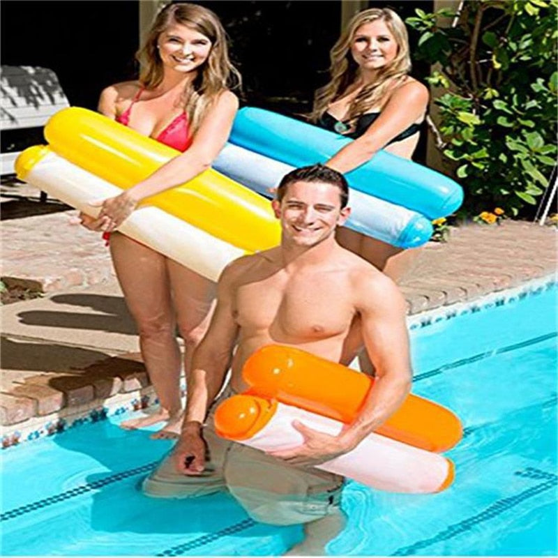 Inflatable Pool Float Bed Lounge Chair Hammock