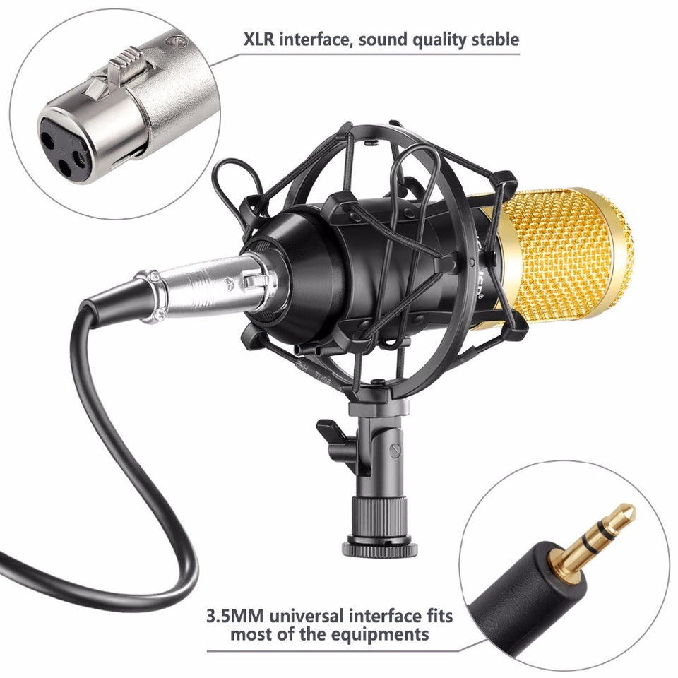 BM-800 Professional Condenser Microphone Kit