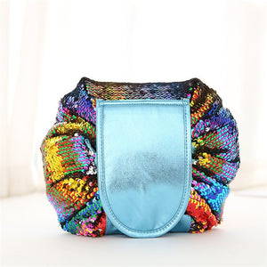 Mermaid Sequins Cosmetic Drawstring Bag