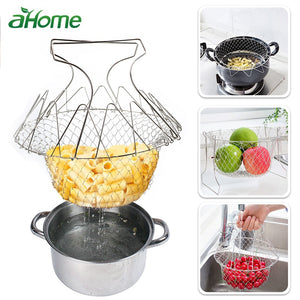 Stainless Steel Folding Basket Colander