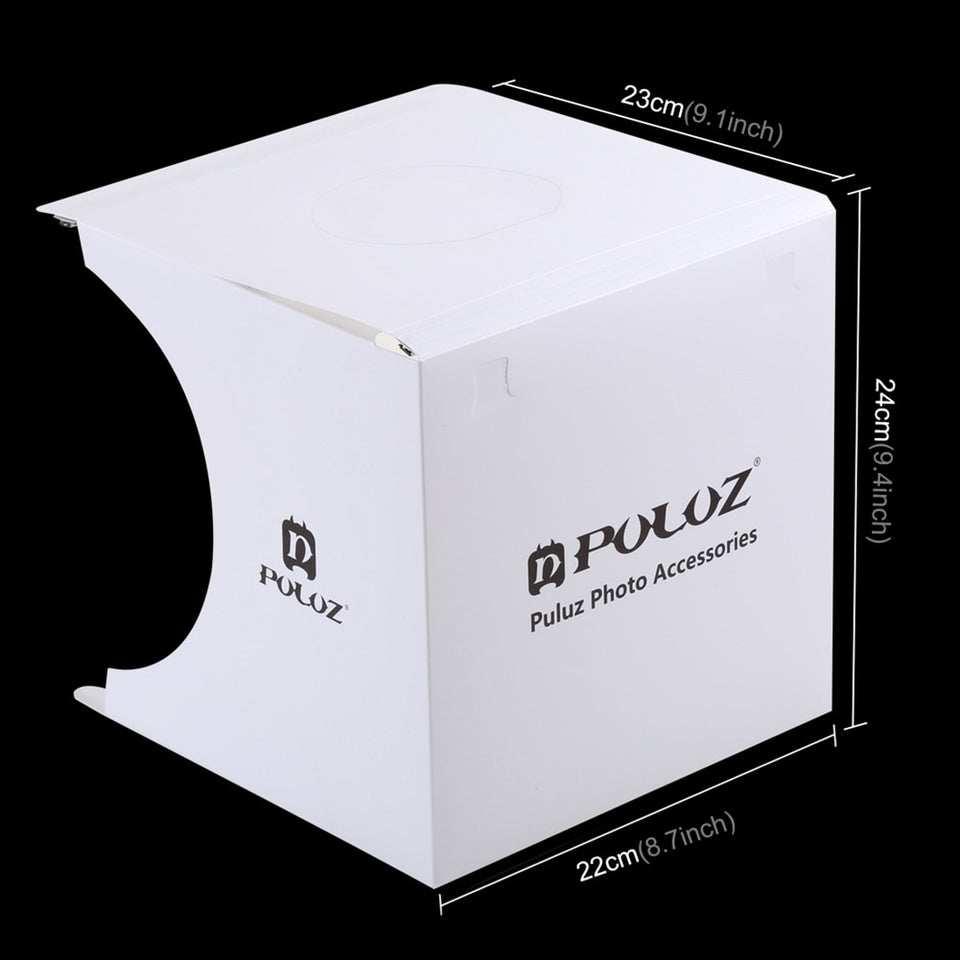 Mini Folding Lightbox Photo Studio with 2 Panel LED Lights