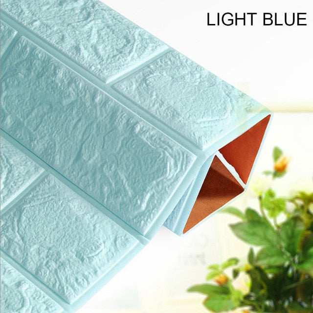 3D Waterproof Brick Wallpaper