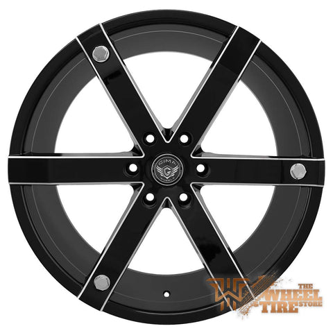 GIMA 12 'Brut' Wheel in Gloss Black w/ Milled Windows (Set of 4)