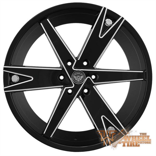 GIMA 13 'Warrior' Wheel in Black w/ Milled Edges (Set of 4)