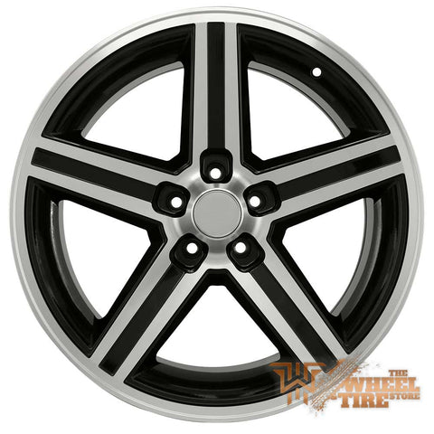 IROC REPLICA 248T-AM Wheel in Black Machined (Set of 4)