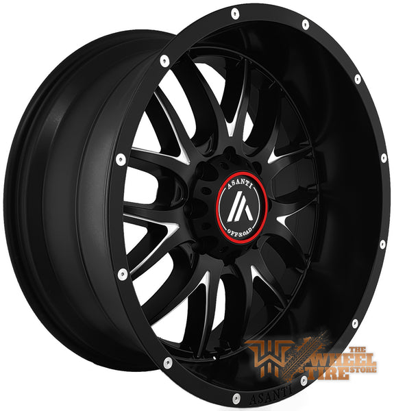 ASANTI OFF-ROAD AB807 'Carbine' Wheel in Satin Black Milled