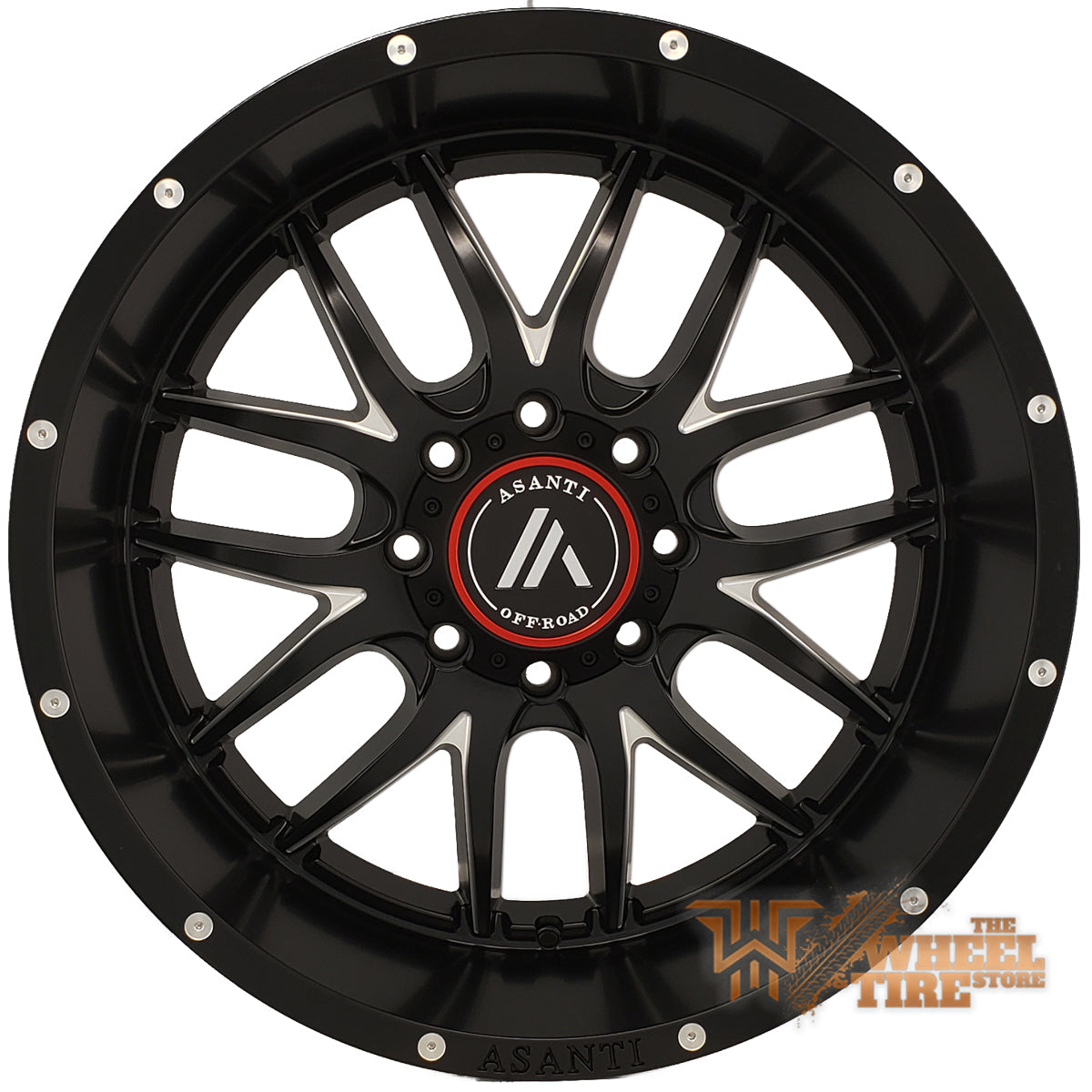 ASANTI OFF-ROAD AB807 'Carbine' Wheel in Satin Black Milled (Set of 4)