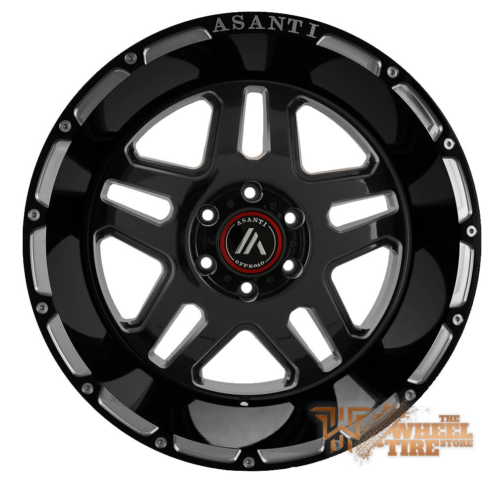 ASANTI OFF-ROAD AB809 'Enforcer' Wheel in Gloss Black Milled (Set of 4)