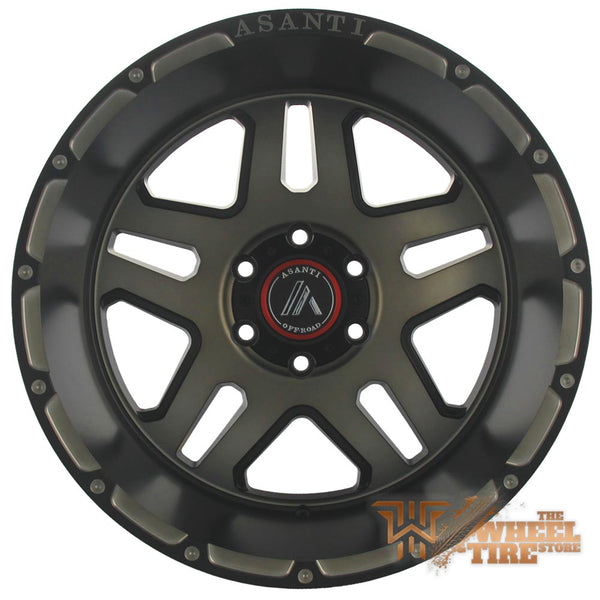 ASANTI OFF-ROAD AB809 'Enforcer' Wheel in Matte Black Machined w/ Tinted Clear Coat (Set of 4)