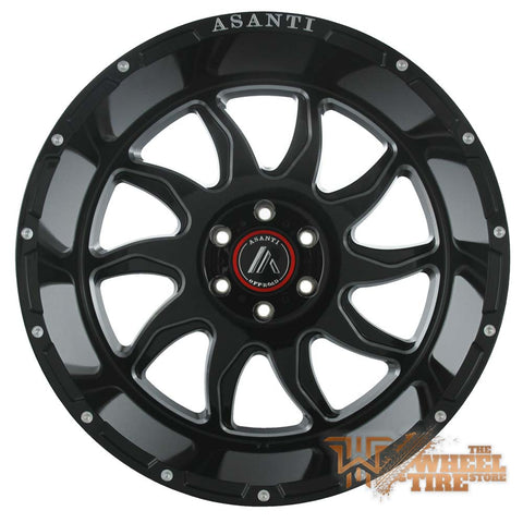 Asanti Off-Road AB810 Wheel in Gloss Black Milled (Set of 4)