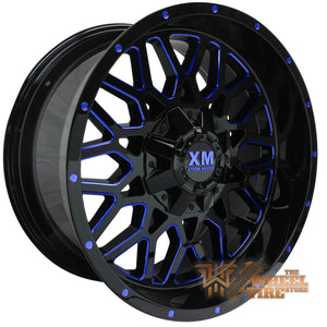 XTREME MUDDER XM-328 Wheel in Gloss Black with Blue Milled (Set of 4)