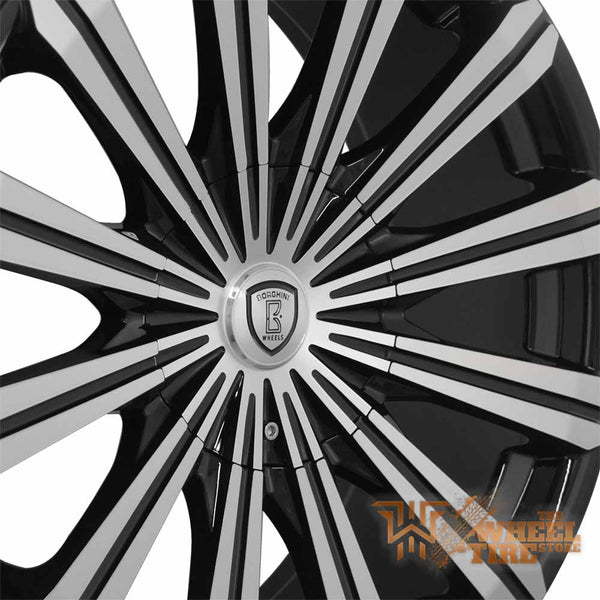 BORGHINI B18 Wheel in Black Machined (Set of 4)