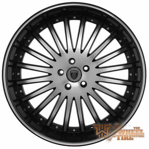 CUSTOM BORGHINI B23 Wheel in Gloss Black w/ Machined Face & Milled Lip