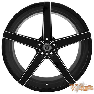 BORGHINI B35A Wheel in Black w/ Machined Windows
