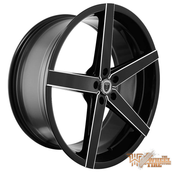 BORGHINI B35A Wheel in Black w/ Machined Windows (Set of 4)