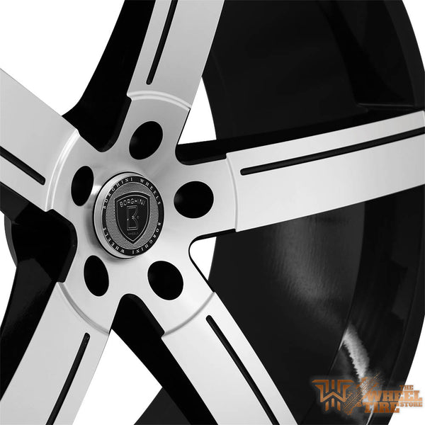 BORGHINI B39A Wheel in Black Machined Face