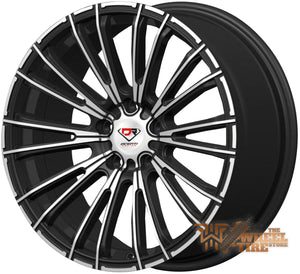 DCENTI Racing DCTL006 Wheel in Black Machined (Set of 4)