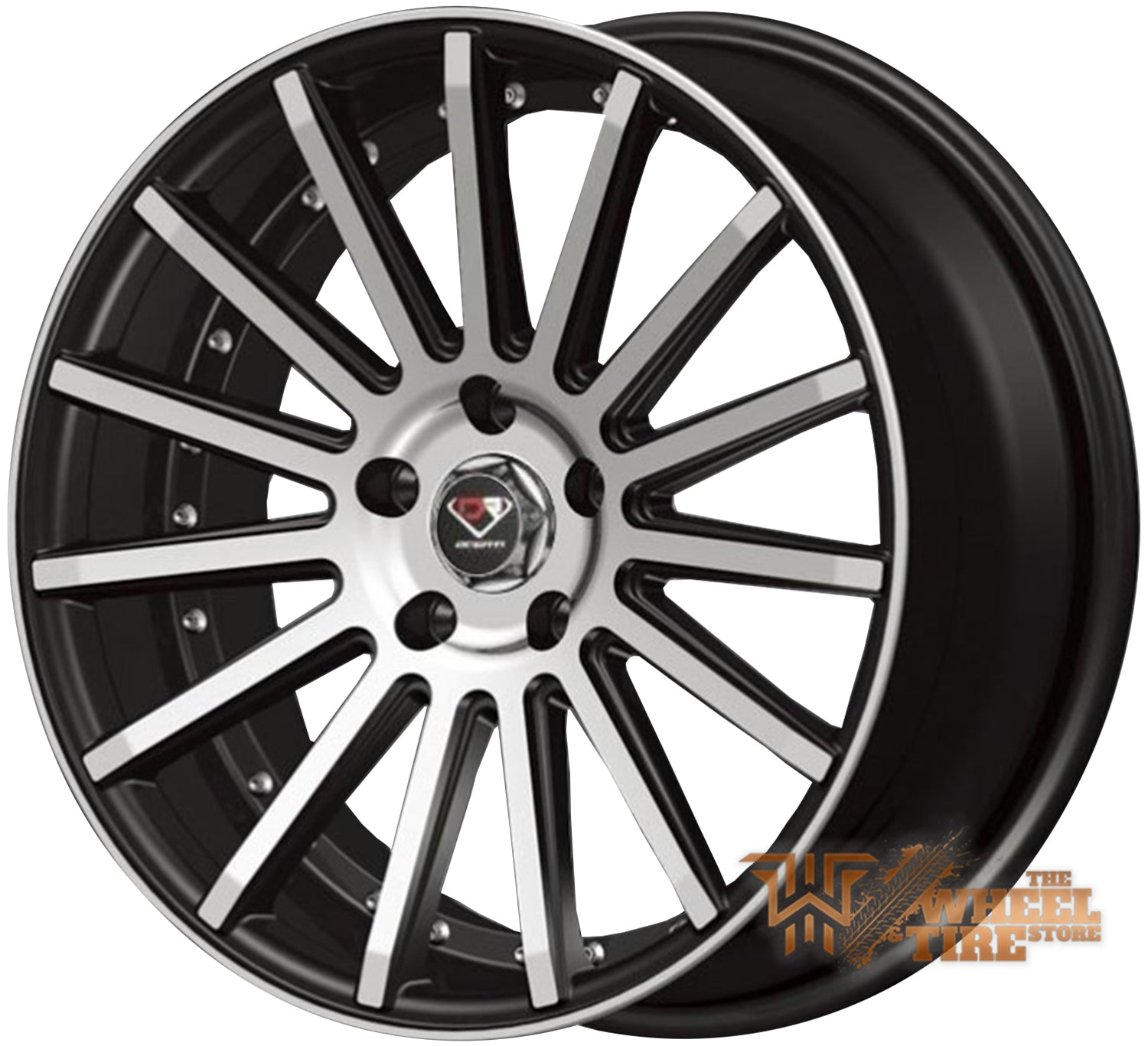 DCENTI Racing DCTL008 Wheel in Black Machined (Set of 4)