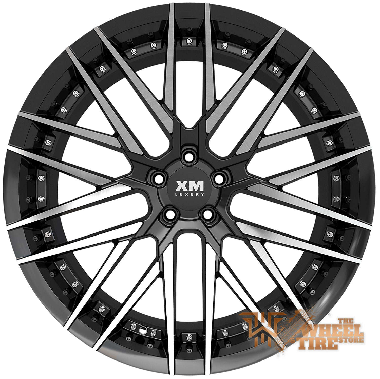 XM LUXURY XM-203 Wheel in Black Machined Face