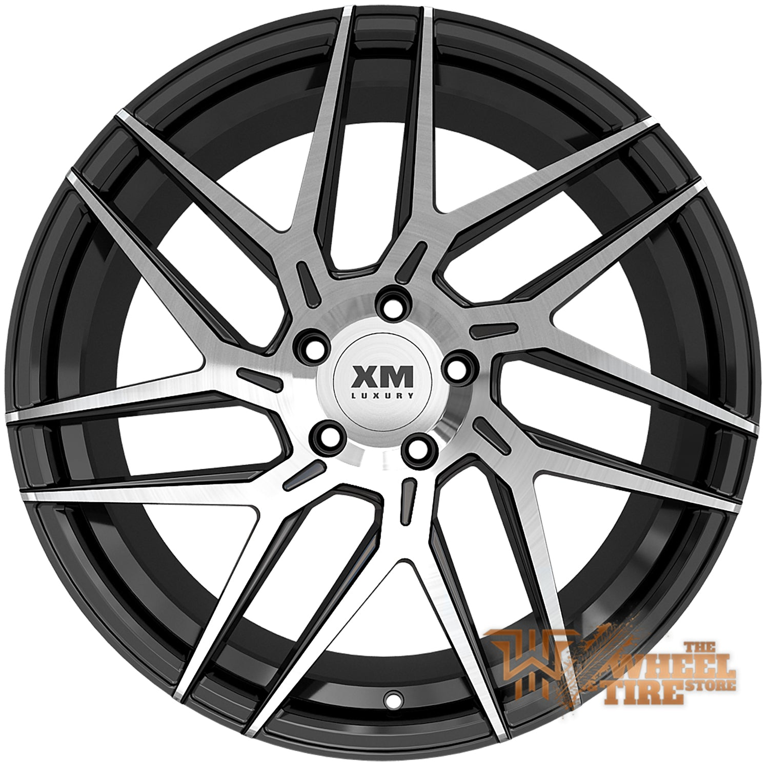 XM LUXURY XM-208 Wheel in Black Machined Face (Set of 4)