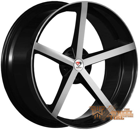 DCENTI Racing DCTL009 Wheel in Black Machined (Set of 4)