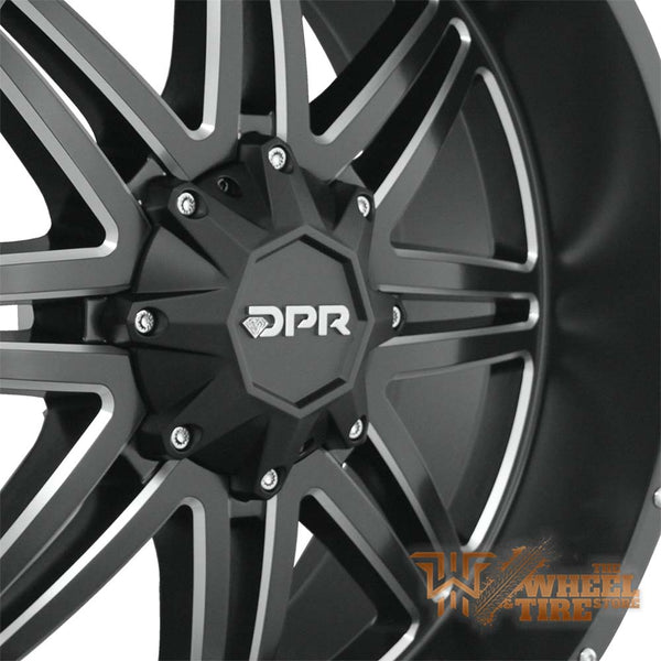 DPR804 'AK-47' Wheel in Matte Black Milled (Set of 4)