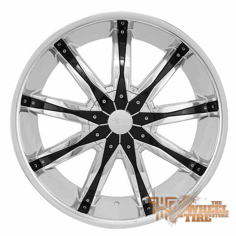 DCENTI DW29 Wheel in Chrome w/ Black Pieces (Set of 4)