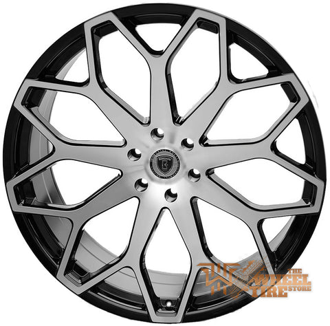 BORGHINI B28 Wheel in Black Machined (Set of 4)