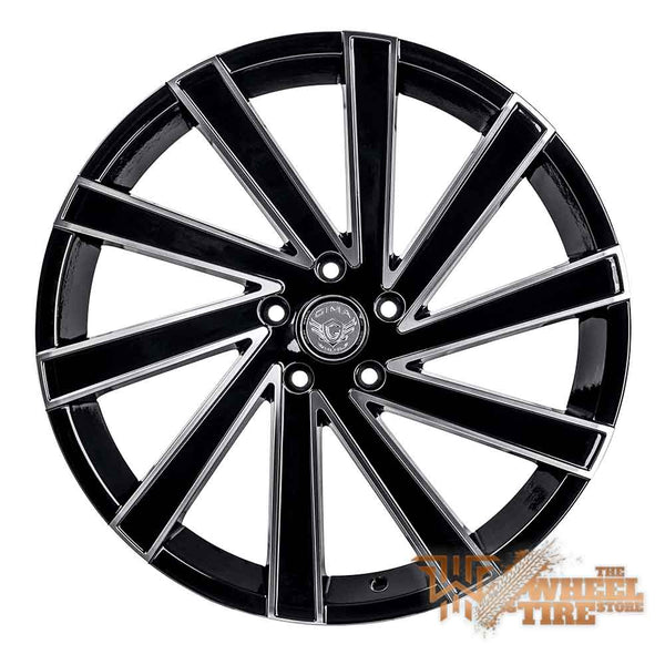 GIMA 6 'Nexus' Wheel in Gloss Black w/ Milled Edges