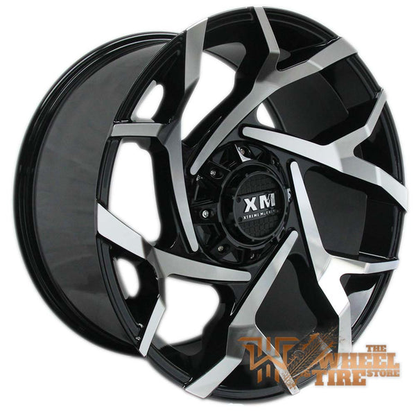 XTREME MUDDER XM-333 Wheel in Gloss Black & Machined Face (Set of 4)