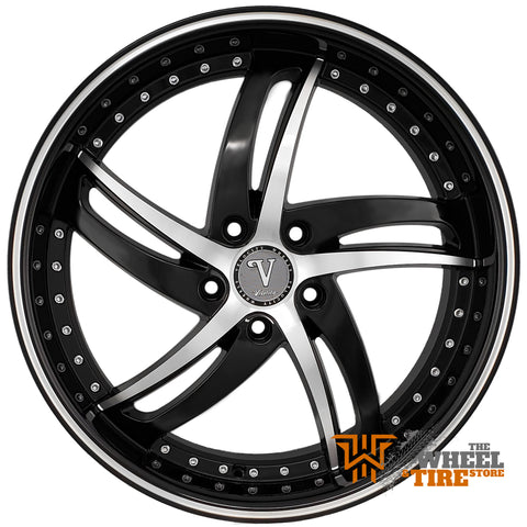 VELOCITY VW25 Wheel in Black Machined (Set of 4)