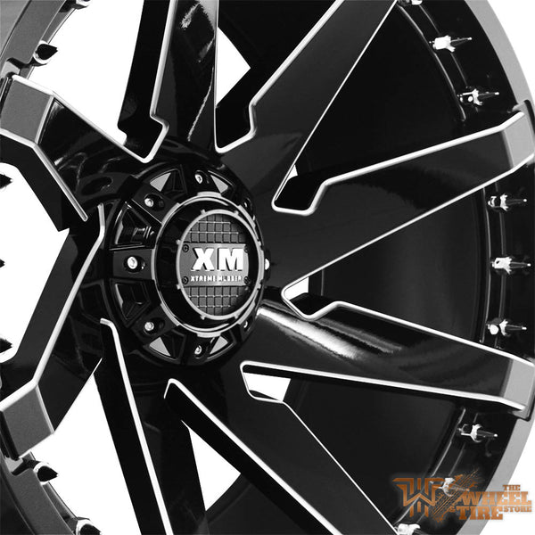 XTREME MUDDER XM-301 Wheel in Gloss Black Milled (Set of 4)
