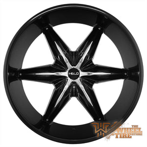 HELO HE866 Wheel in Gloss Black w/ Chrome Inserts