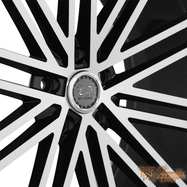 U2 U2-36 Wheel in Black Machined Face (Set of 4)