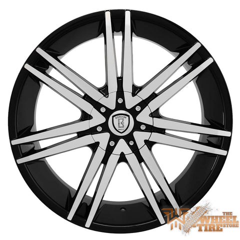 BORGHINI B20 Wheel in Black Machined Face (Set of 4)