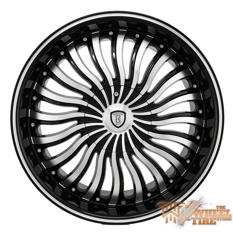 BORGHINI B24 Wheel in Black Machined (Set of 4)