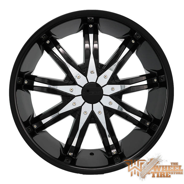 DCENTI DW29 Wheel in Black w/ Chrome Pieces (Set of 4)