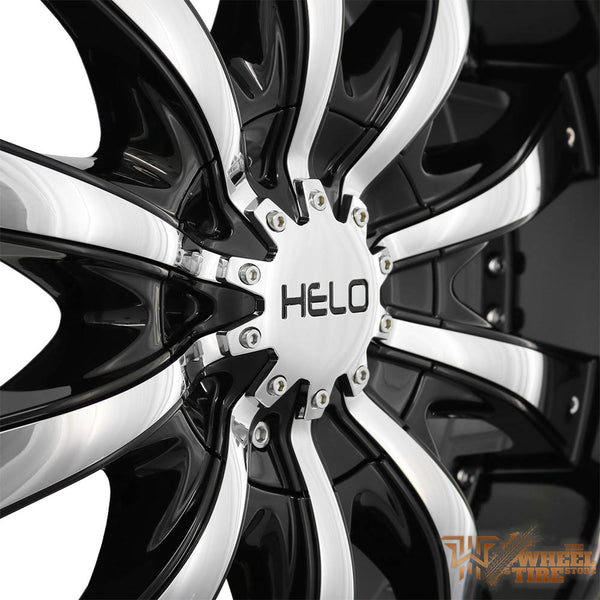 HELO HE875 Wheel in Gloss Black w/ Chrome Accents