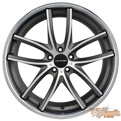 LORENZO WL199 Wheel in Grey Machined w/ Stainless Steel Lip (Set of 4)