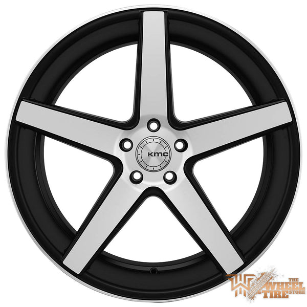 KMC 685 Wheel in Satin Black Machined Face (Set of 4)