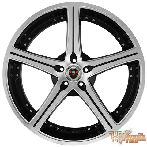 MERCELI M51 Wheel in Satin Machined Face w/ Black Accents & Lip