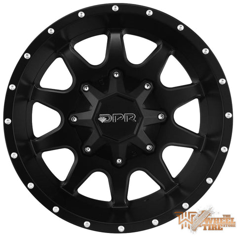 DPR806 'Mack 10' Wheel in Matte Black with Milled Windows & Rivet Accents (Set of 4)