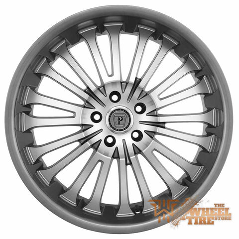 PHINO PW108 Wheel in Gunmetal Grey/Machined (Set of 4)
