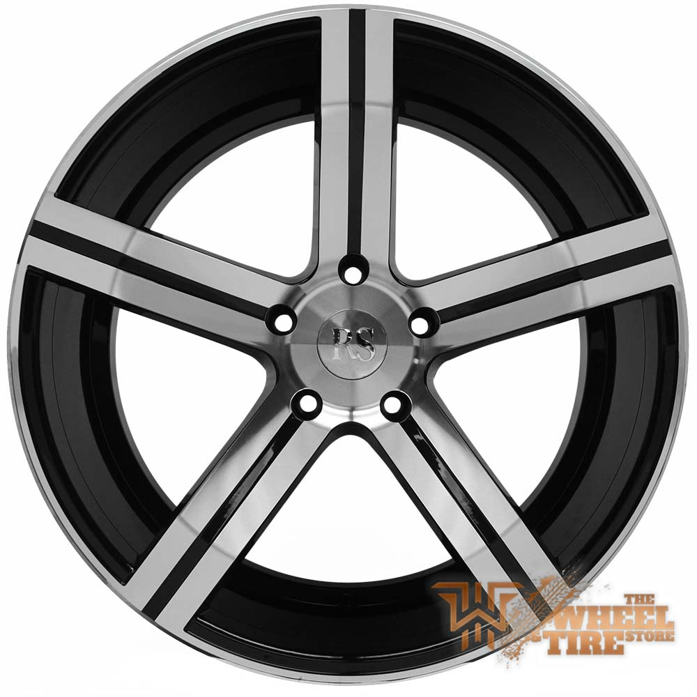RED SPORT RSW100 Wheel in Gloss Black w/ Machined Face (Set of 4)