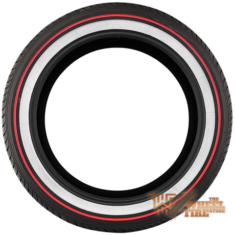 VOGUE Tyre Custom Built Radial VIII All-Season RED Stripe White Wall Tire Set of 4 FREE SHIPPING!